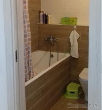 Ванная комната с множеством мест для хранения