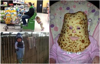 18 уморительных фотографий о том, что бывает, когда дети остаются наедине с отцами