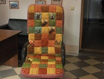 Новые чехлы для кресла в стиле пэчворк