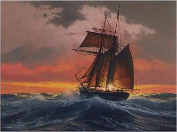 Парусники и морская стихия: современный художник пишет марины в традиции XIX века