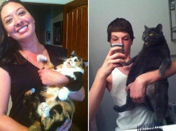 Котейки, которые не любят фотографироваться