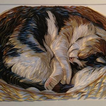 Потрясающие произведения искусства, созданные в технике квиллинга британской художницей Бекой Стоунфокс