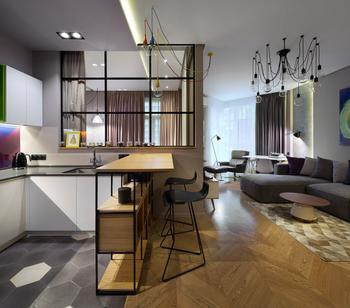 Современная квартира с умной планировкой в Киеве (45 кв. м)