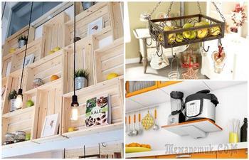 15 оригинальных и практичных полок для кухни своими руками