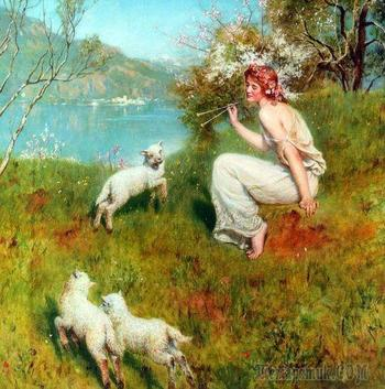 Английский художник Джон Кольер (1850 — 1934)
