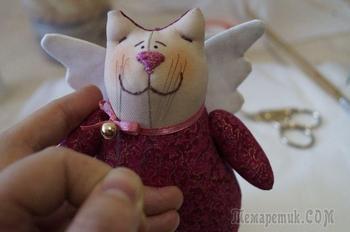 Шьем своими руками нарядного котика в стиле тильда
