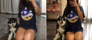 Девушка каждый месяц делала одну и ту же фотографию со своей собакой, чтобы показать, как она растет