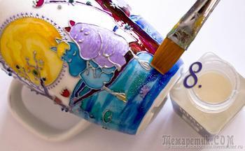 Декорируем кружки в технике витражной росписи
