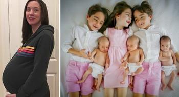 Мать тройняшек снова забеременела. Когда увидела результаты УЗИ, закричала от удивления!