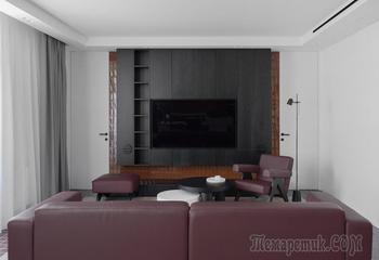 Посмотрите на «трешку», где все комнаты отделаны плиткой разных цветов