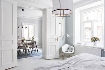 Очаровательная квартира с легкими пастельными штрихами в Швеции (70 кв. м)