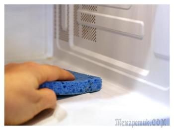 Как легко почистить микроволновку от жира