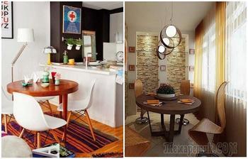 Как разместить столовую на крошечной кухне и оставить место для маневров