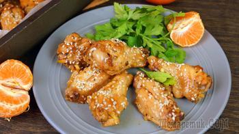 КУРИНЫЕ КРЫЛЫШКИ по Китайскому Рецепту в Апельсиновой Глазури с Кунжутом