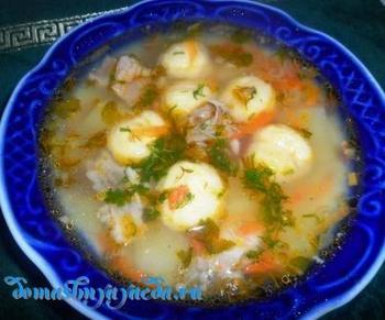 Суп c сырными шариками