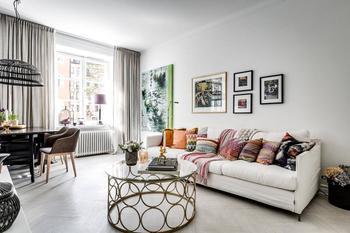 Спокойные цвета для квартиры в работе дизайнера Alexander White