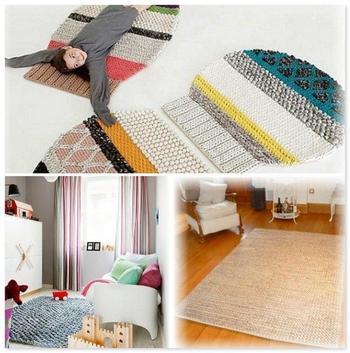 Вязаные коврики в дизайне интерьера