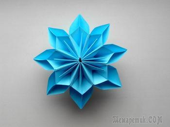 Цветок из бумаги. Поделки оригами на 8 марта