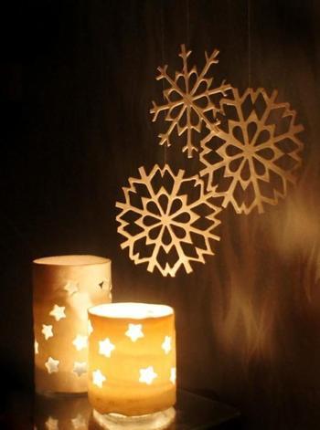Мастерим снежинки и подсвечники из полимерной глины