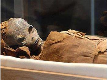 В секретном отделе пирамиды фараона найдена мумия инопланетянина