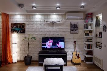 Как оформить квартиру-студию для холостяка: реальный пример в Москве
