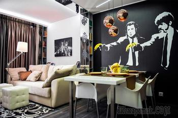 Дизайн интерьера гостиной-столовой 19 кв. м.