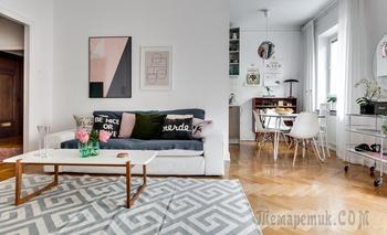 Шведская студия в 61 м²