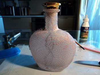 Пейп арт пробы пера))) Бутылка.