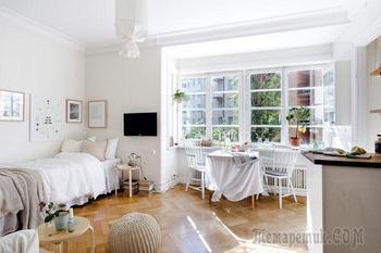 Маленькая уютная квартира: 25 квадратных метров в Швеции
