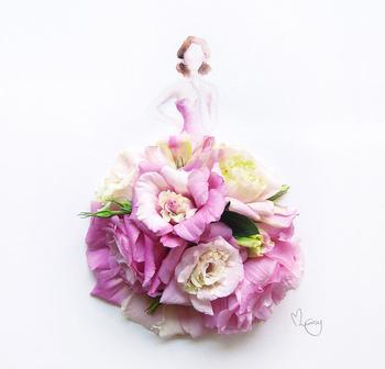Рисунки из акварели и цветов!