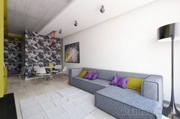 Дизайн интерьера квартиры 50 кв. м.
