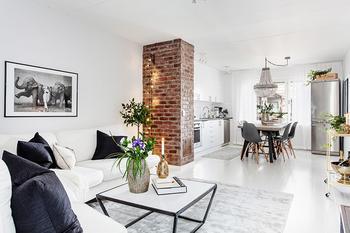Скандинавский шик в квартире в Гётеборге