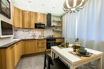 Интерьер угловой кухни 10 кв. метров