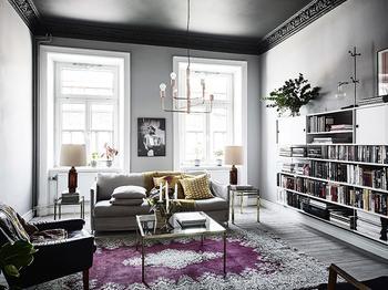 Смелые цветовые решения в квартире в Швеции