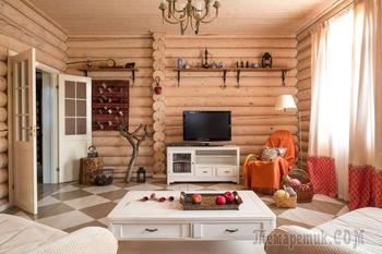 Дизайн бревенчатого дома: внешняя и внутренняя отделка