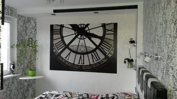 Спальня: черно-белая, в хрущевке