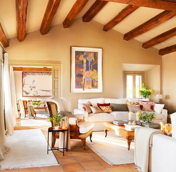Идеальный загородный дом в деревенском стиле