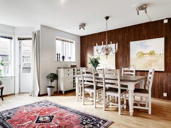 Интерьер двухуровневой квартиры в скандинавском стиле