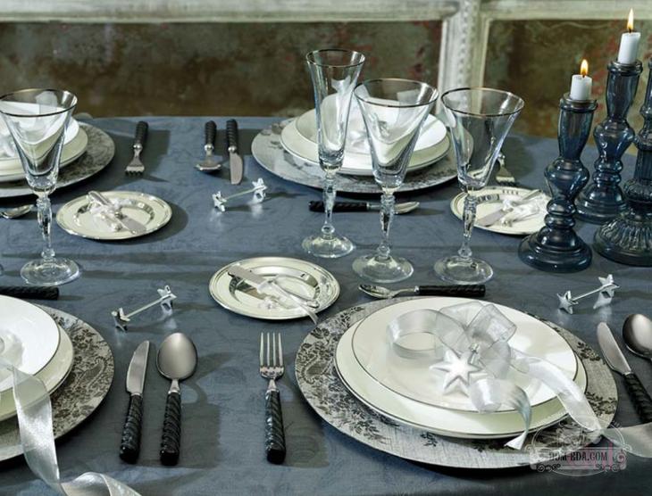 Красивая домашняя сервировка стола