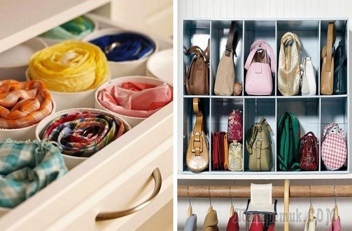 Как освободить кучу места в шкафу: 11 полезных советов