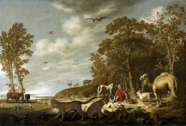 Орфей с животными в пейзаже -- ок1640, 113х167, Частное собрание