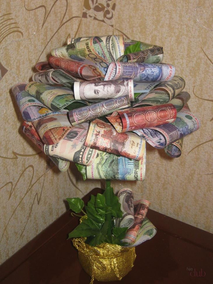 Поделки из денег своими руками фото 892