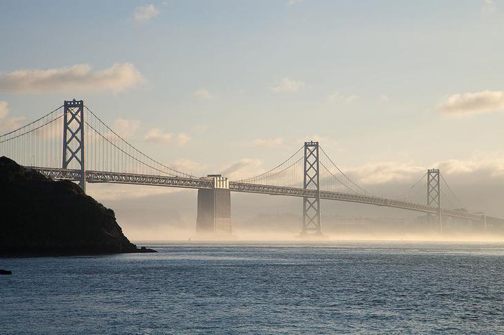 Висячий мост из Сан-Франциско в Окленд