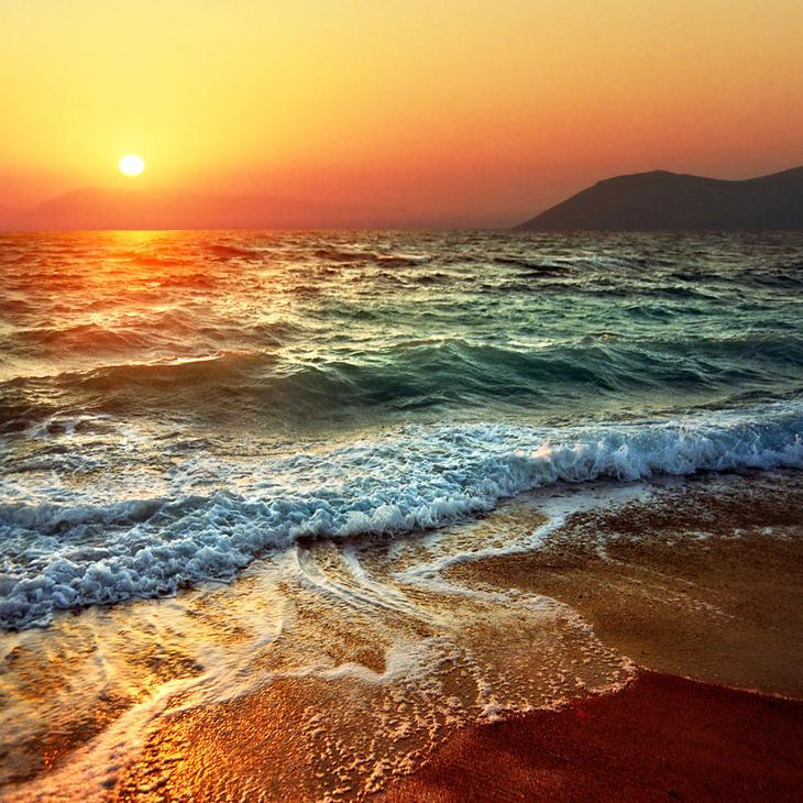 Закат на острове Родос, Греция