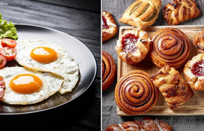 Продукты, которые лучше не есть утром, и еда, которая отлично подойдёт для завтрака