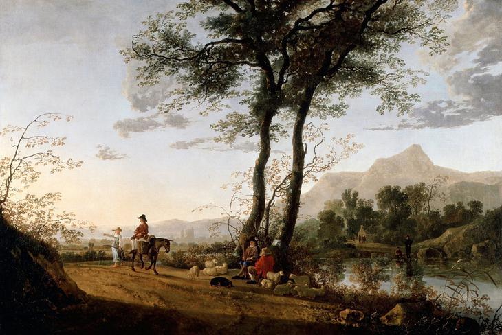 Дорога у реки -- ок1660, 113х167, Картинная галерея колледжа Далвич Лондон