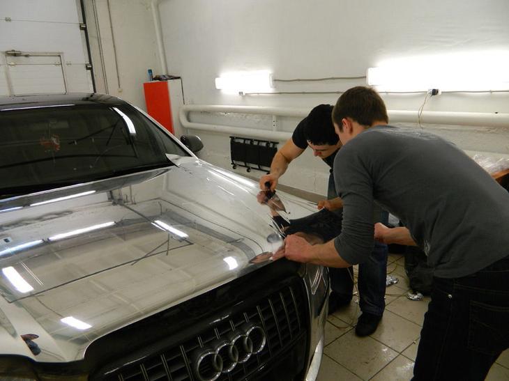 Хромирование автомобиля плёнкой