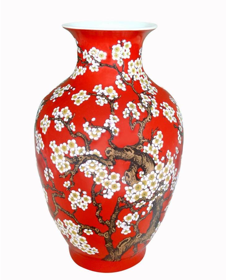 """Βάζο από πορσελάνη (48 φωτογραφίες): Κινεζικά αντίκα αγγεία για λουλούδια,  αγγεία """"Imperial Factory Porcelain"""""""