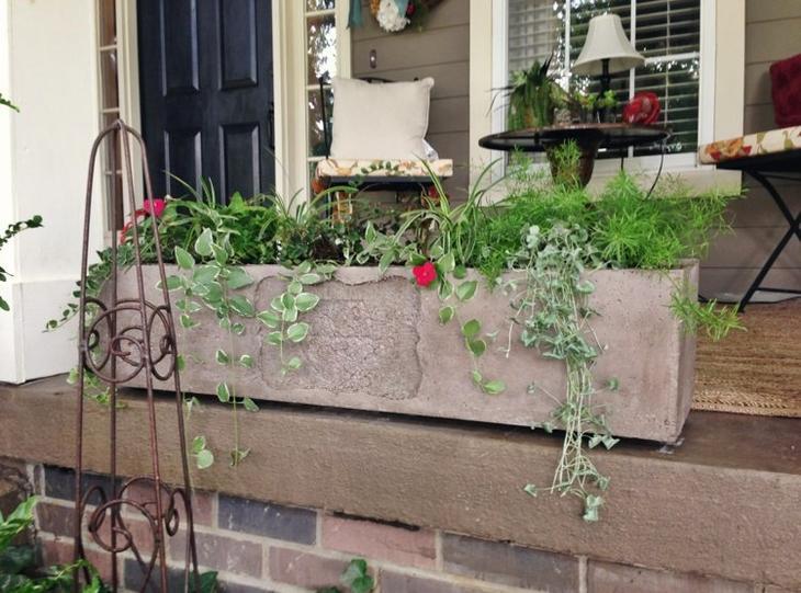 как сделать фигуры для сада своими руками фото мастер класс ящик для цветов бетон