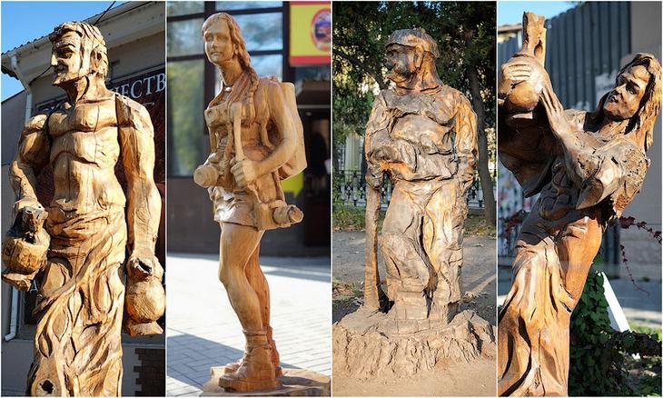 TEMP8 Деревянные скульптуры в Симферополе